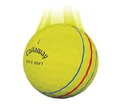 Callaway ERC Soft Vapor Ball, Yellow (L55+)