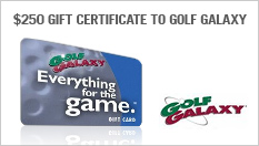 $250 gift certificate to Golf Galaxy
