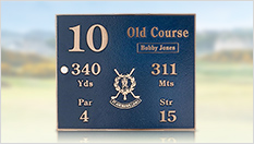 St Andrews Tee Plaques and Pin Flags