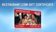 $175 Restaurants.com Gift Certificate