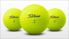 Yellow Titleist Virtual Golf Balls